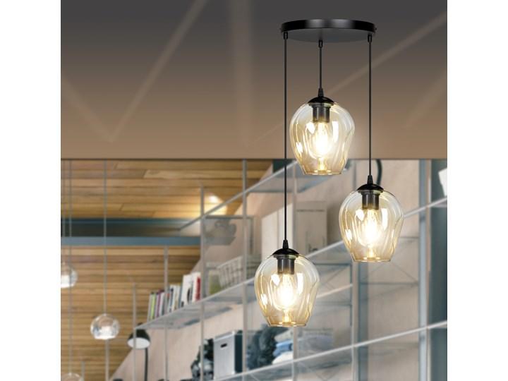 ISTAR 3 BL PREMIUM MIODOWA lampa wisząca żyrandol nowoczesny klosze NOWOŚĆ Metal Lampa LED Szkło Lampa z kloszem Kolor Czarny
