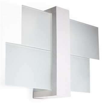 SOLLUX Lampa ścienna w stylu skandynawskim Designerski Kinkiet FENIKS 1 w kolorze białym
