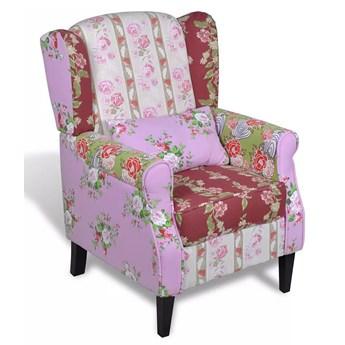 Patchworkowy fotel uszak - Fiore