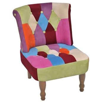 Patchworkowy fotel pikowany - Alice