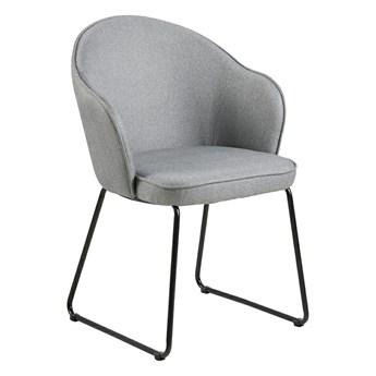 Tapicerowane krzesło szare - Nelmi