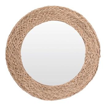 Okrągłe lustro Eraje - naturalne