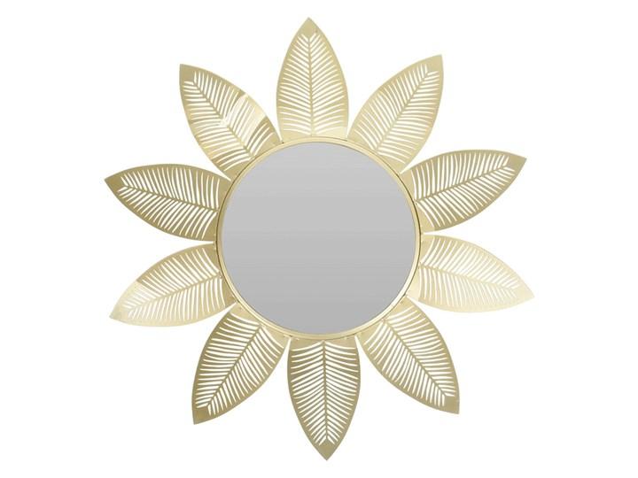 Glamour lustro Evelie - złote Lustro z ramą Okrągłe Kategoria Lustra Ścienne Kolor Złoty