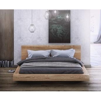 KAMA – łoże 140x200 cm z twardego drewna bukowego, typ lewitujące, z pojemnikiem na pościel