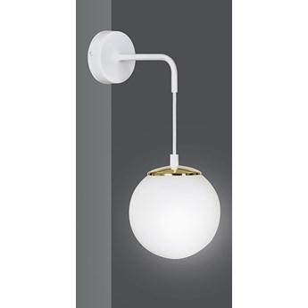OGNIS K1 WHITE 976/K1 kinkiet regulowany złote elementy szklany biały klosz