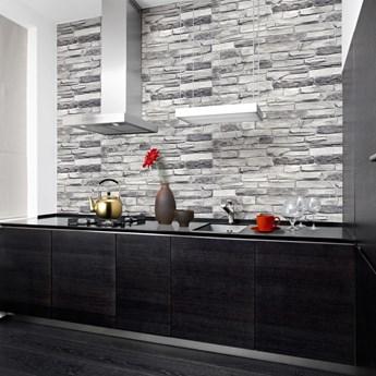 Panele Ścienne Pcv 16863 Imitacja Kamienia Łupek Srebrny (980 X 498 Mm)