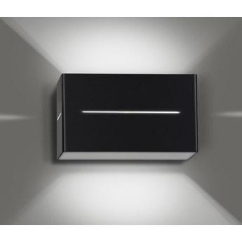 VITO BLACK 825/2 nowoczesny kinkiet LED z blachy oryginalny efekt świetlny czarny