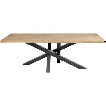 Stół MATT na wymiar drewno lite stelaż metalowy czarny