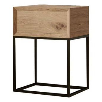 Szafka nocna stolik nocny PAPAYE szuflada drewniana zacięcie 45 stopni