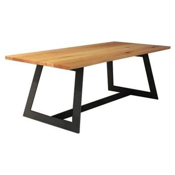 Stół PIANO na wymiar drewno lite stelaż metalowy czarny