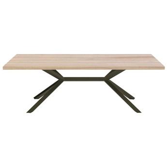 Stół VINO na wymiar drewno lite stelaż metalowy czarny