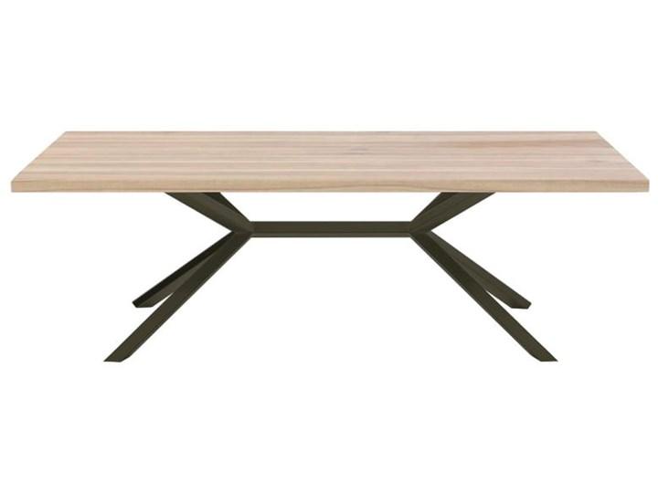 Stół VINO na wymiar drewno lite stelaż metalowy czarny Długość 140 cm  Wysokość 76 cm Szerokość 60 cm Sosna Pomieszczenie Stoły do jadalni