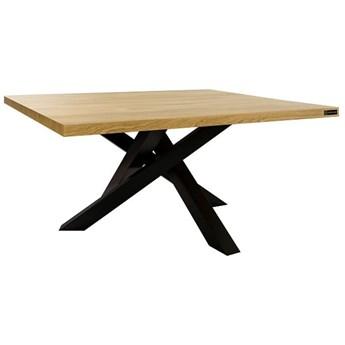 Stolik kawowy Olivier kwadratowy prostokątny metalowy drewno loftowy