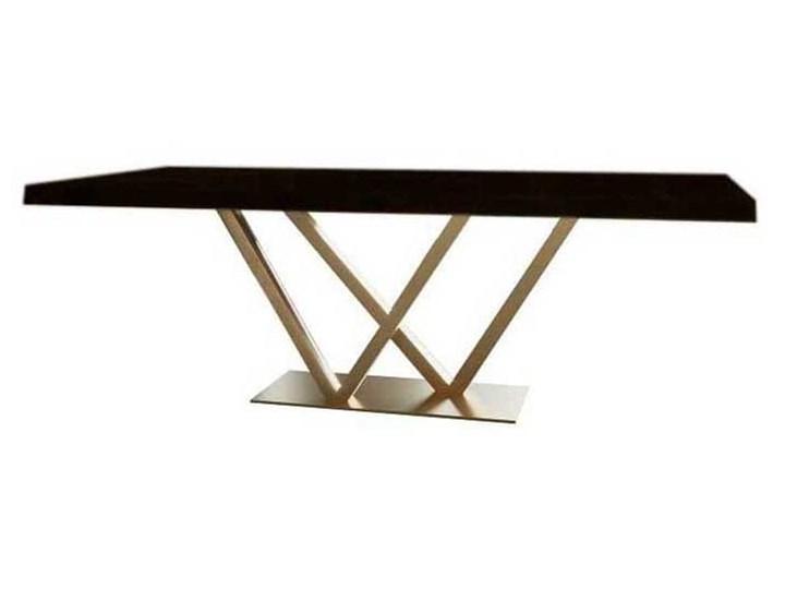 Stół nowoczesny IV mdf lakierowany Szerokość 160 cm Metal Długość 160 cm  Szerokość 60 cm Wysokość 76 cm Płyta MDF Kolor Czarny Rozkładanie
