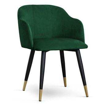 Krzesło kubełkowe MAGNEZ tapicerowane glamour welurowe