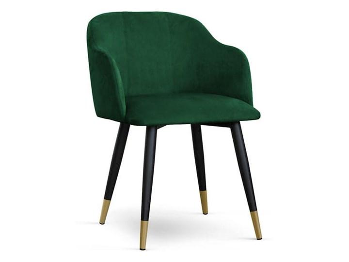 Krzesło kubełkowe MAGNEZ tapicerowane glamour welurowe Głębokość 63 cm Drewno Szerokość 55 cm Tworzywo sztuczne Wysokość 78 cm Tkanina Metal Styl Industrialny