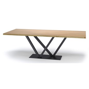 Stół IV na wymiar drewno lite stelaż metalowy czarny