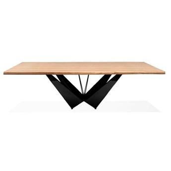 Stół dębowy loftowy Pablo nowoczesny metalowy drewniany