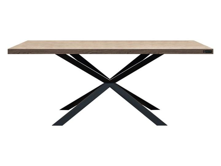 Stół VENO I na wymiar drewno lite stelaż metalowy czarny