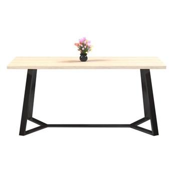 Stół TEO I na wymiar drewno lite stelaż metalowy czarny