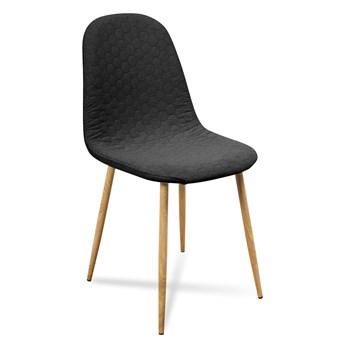 Krzesło TIMO ciemno szare nogi dąb