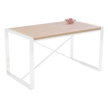 Stół TORINO na wymiar drewno lite stelaż metalowy biały