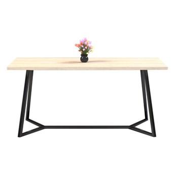 Stół TEO II na wymiar drewno lite stelaż metalowy czarny