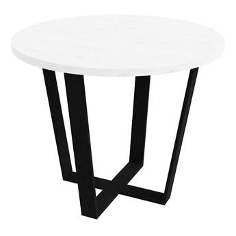 Stół okrągły TONY V na wymiar mdf lakierowany stelaż metalowy biały