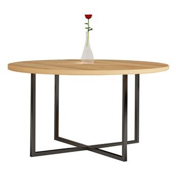 Stół okrągły TOMMY I na wymiar drewno lite stelaż metalowy czarny
