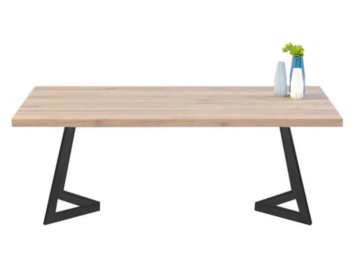 Stół OSLO na wymiar drewno lite stelaż metalowy czarny Sosna Wysokość 76 cm Długość 140 cm  Kolor Beżowy Styl Nowoczesny