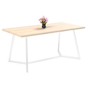 Stół TEO II na wymiar drewno lite stelaż metalowy biały