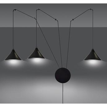ABRAMO 3 BLACK 160/3 lampa sufitowa wisząca regulowana najnowszy design czarna loft