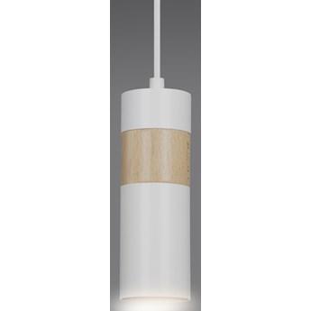 AKARI 1 WHITE 733/1 spot wiszący styl skandynawski regulowana wysokość elementy drewna