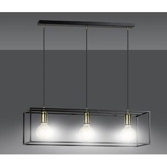 KARMEN 3 BLACK 808/3 wisząca lampa sufitowa LOFT regulowana metalowa złoto czarna