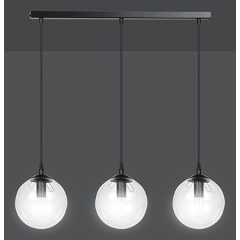 COSMO 3 BL TRANSPARENT 711/3 lampa wisząca klosze kule regulowana wysokość nowoczesna