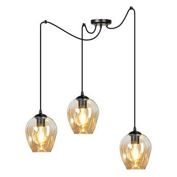LEVEL 3 BL MIODOWY 758/3 lampa wisząca klosze szklane kule regulowana nowoczesna