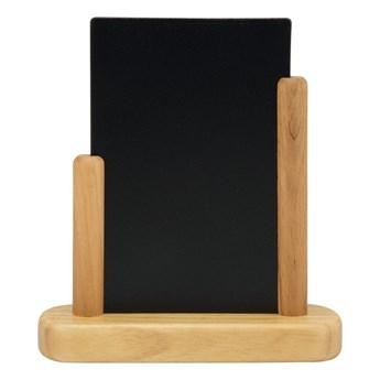 Tabliczka kredowana stół z lakierowaną, drewnianą podstawką (kolor jasnego drewna) 17,5x15,5x5 cm