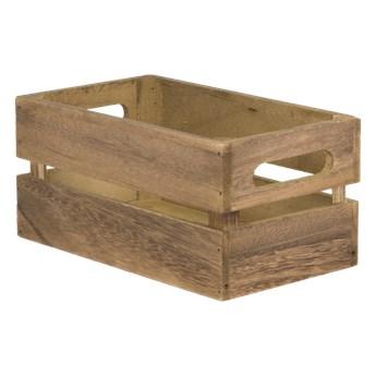 Drewniana skrzynka, kosz do przechowywania 11,6x24x14,2