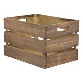 Drewniana skrzynka, kosz do przechowywania 21x33x24,2cm