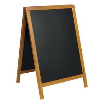 Potykacz z drewnianym wykończeniem (odcień miodowy) 85x54,5x44cm