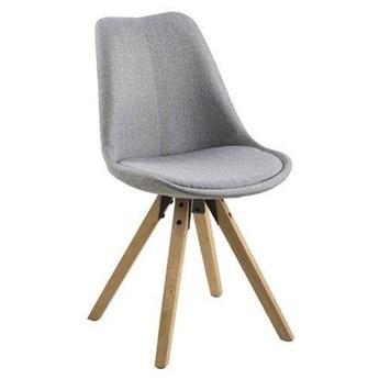Skandynawskie krzesło z tkaniny Repo na drewnianych nogach