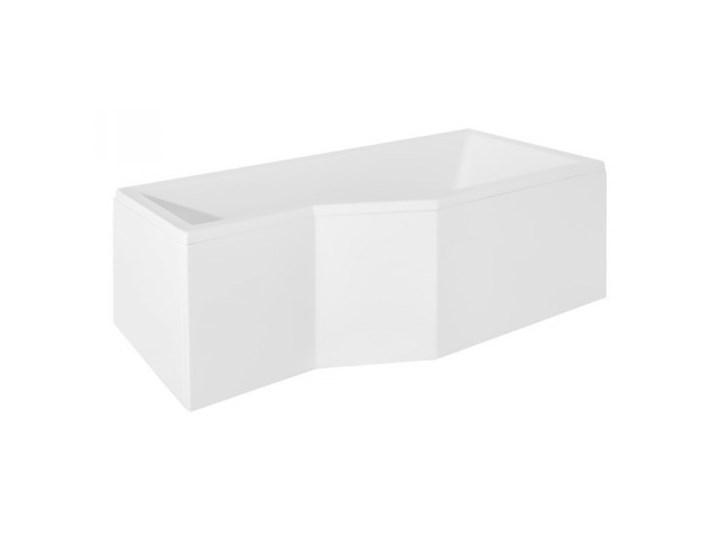 Besco Integra wanna asymetryczna lewa 150x75 cm biała WAI-150-PL Asymetryczne Kolor Biały Akryl Kategoria Wanny