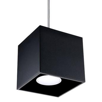 SOLLUX Kwadratowa lampa wisząca Quad Czarny kostka LED!