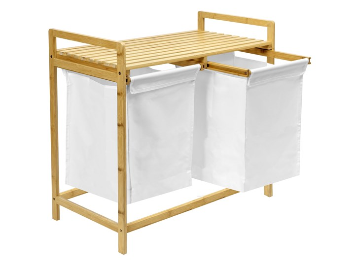 kosz na pranie bambusowy HANOI podwójny