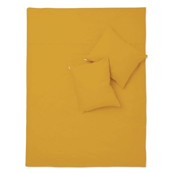 Pościel musztardowa bawełna basic