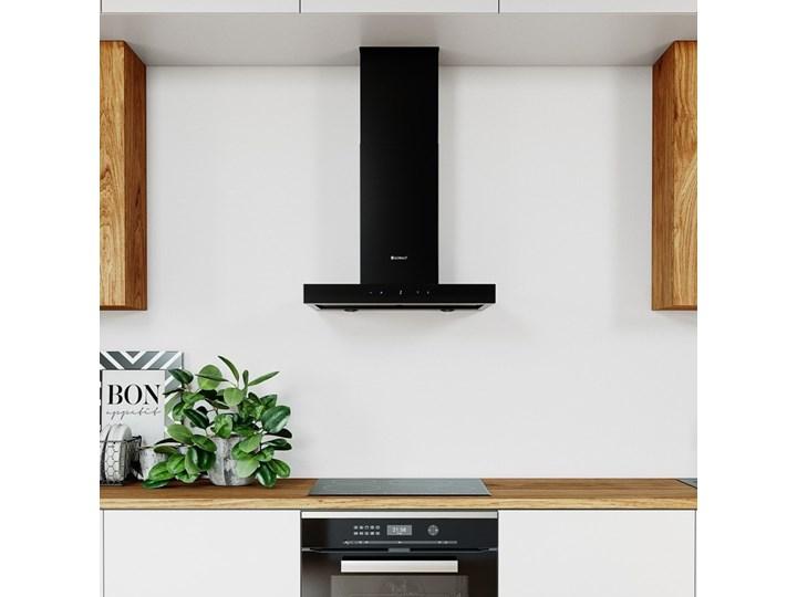 Okap kuchenny VERTA 60.1 BLACK Szerokość 60 cm Okap przyścienny Kolor Czarny