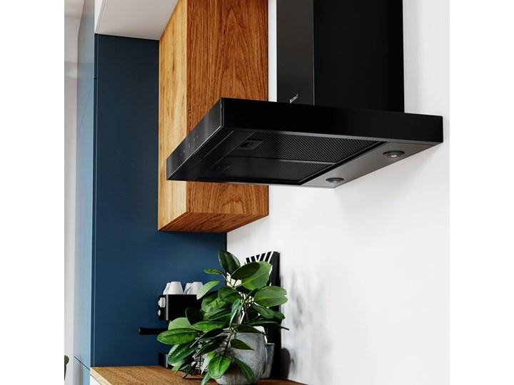 Okap kuchenny VERTA 60.1 BLACK Okap przyścienny Sterowanie Elektroniczne Szerokość 60 cm Poziom hałasu 43 dB