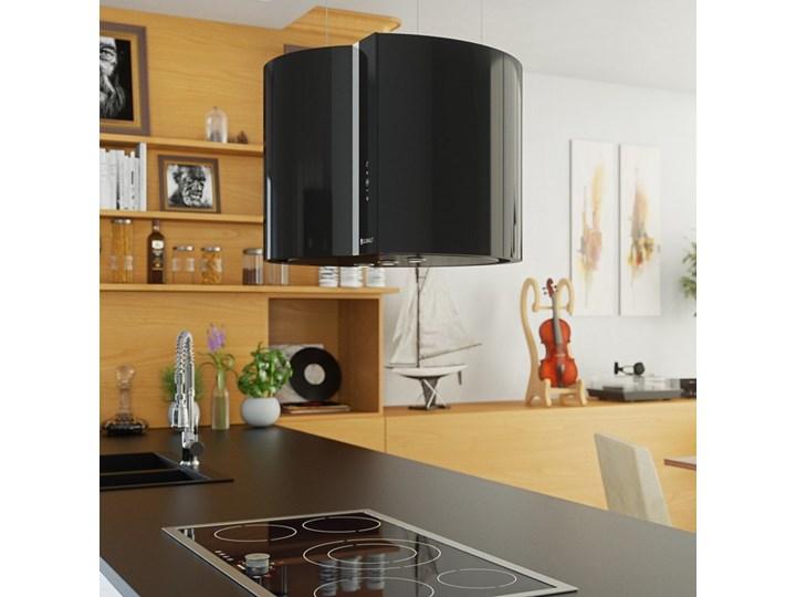Okap kuchenny Serina 60.4 Black Okap wyspowy Szerokość 60 cm Poziom hałasu 64 dB Poziom hałasu 68 dB