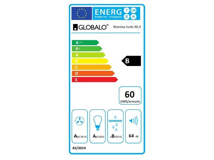 Okap kuchenny Nomina Isola 90.4 Sensor White Okap wyspowy Sterowanie Elektroniczne Szerokość 90 cm Poziom hałasu 50 dB