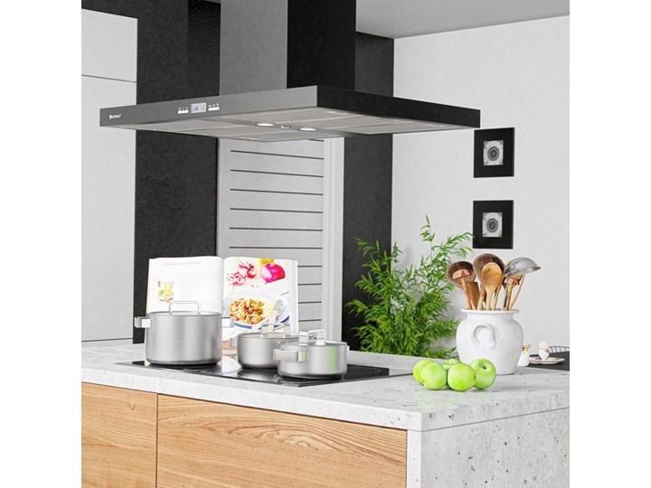 Okap kuchenny Nomina Isola 90.4 Sensor Black Okap wyspowy Szerokość 90 cm Kolor Czarny Poziom hałasu 70 dB